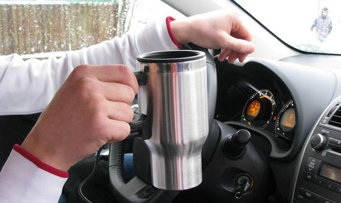 Автомобильная термокружка с подогревом от прикуривателя или USB